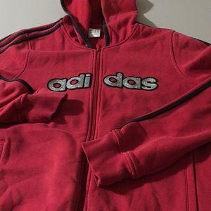 Adidas cute zipper hoodie l